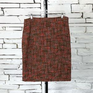 J. Crew No 2 Pencil Tweed Skirt Lined Bck ZIP 1365